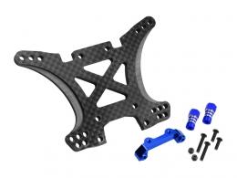JConcepts - Traxxas Slash 4x4 Carbon Fiber, rear shock tower conversion kit, includes tower, mounts, standoffs, hardware