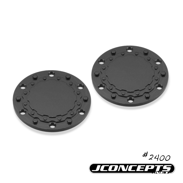 JConcepts Tribute Wheel, Planetary Cap - Aluminum, Black Anodized - 2pc