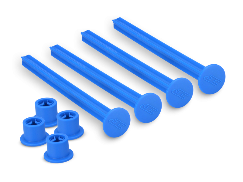 JConcepts 1/8th off-road tire stick - holds 4 mounted tires (blue) - 4pc.