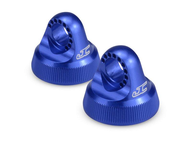 JConcepts Fin, 12mm V2 Shock Cap (Blue)(2) B5, B5M, T5M, SC5M, B6, B6D