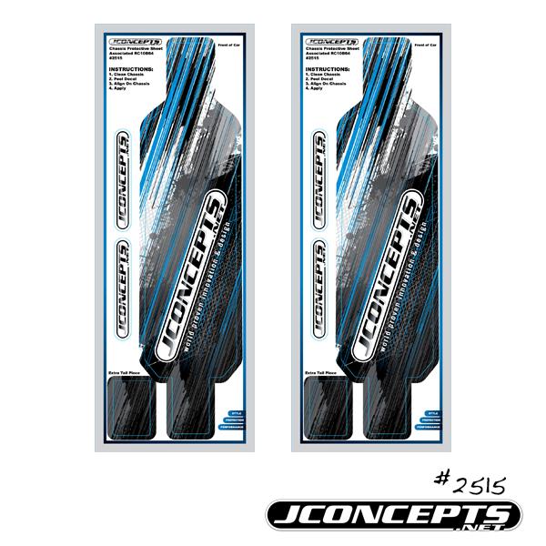 JConcepts B64 | B64D precut chassis protective sheet - striker graphics