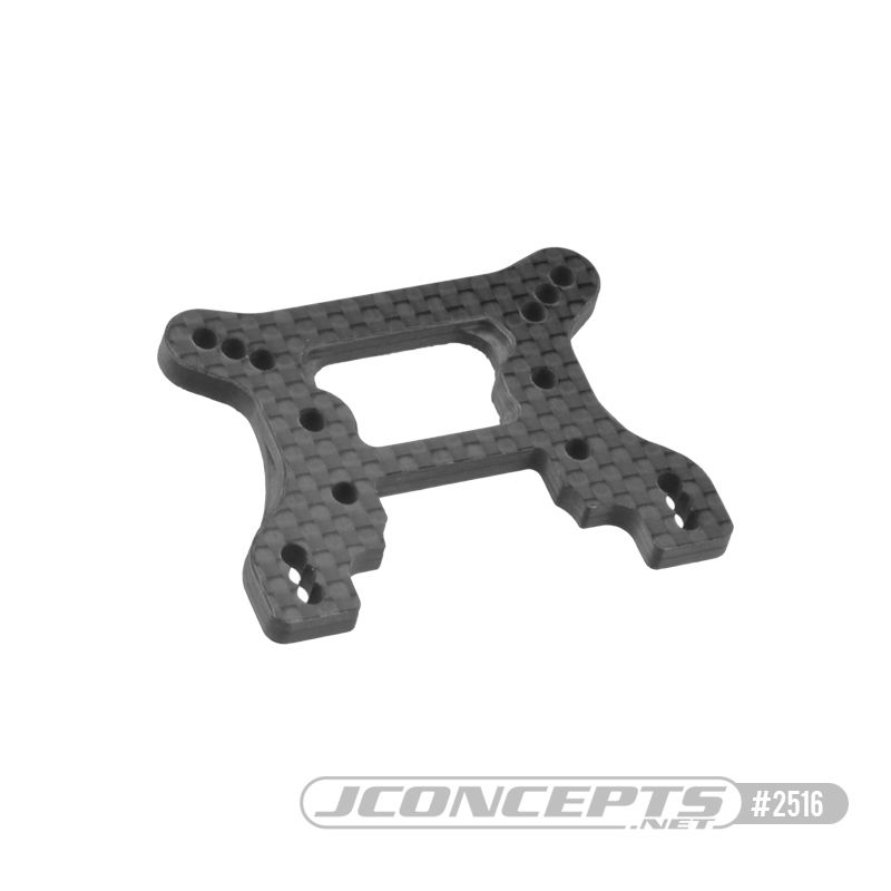 JConcepts B74 Carbon Fiber front shock tower, ribbed and chamfered