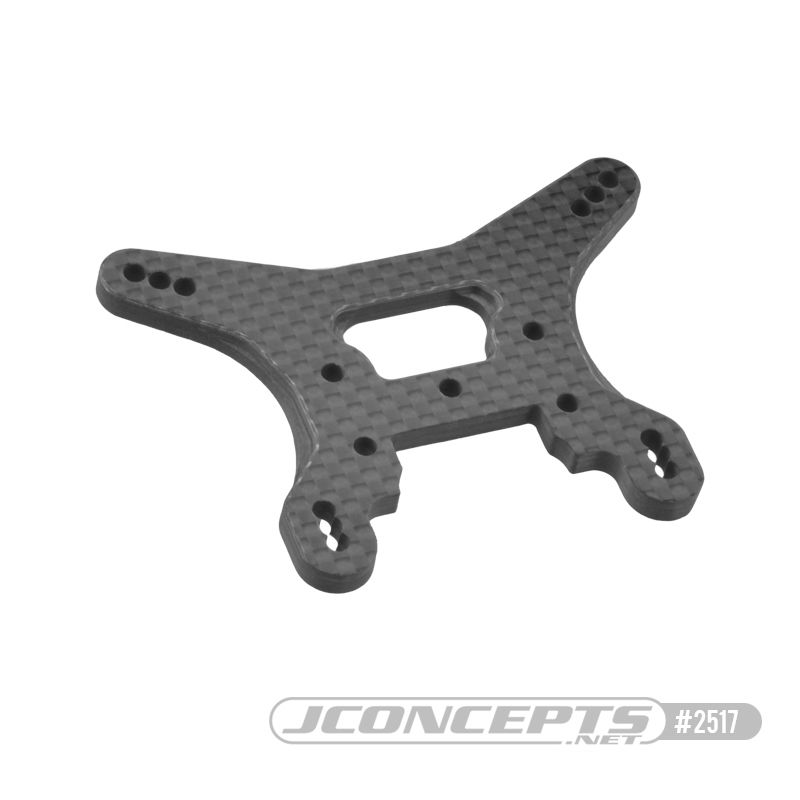 JConcepts B74 Carbon Fiber rear shock tower, ribbed and chamfered