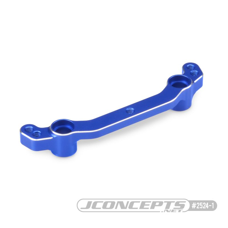 JConcepts B74 Aluminum steering rack, blue