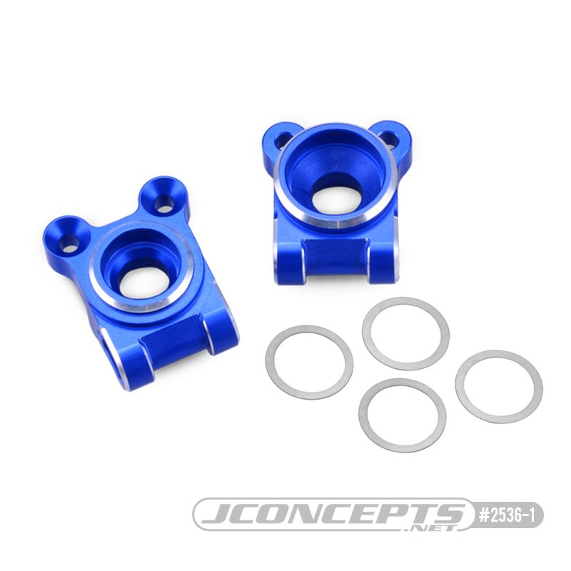 JConcepts B74 Aluminum rear hub carriers, black - set