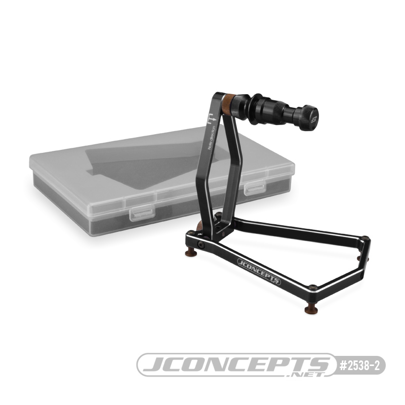 JConcepts - Tire balancer w/ case - black (Fits - 1/10th and 1/8th off-road wheels)