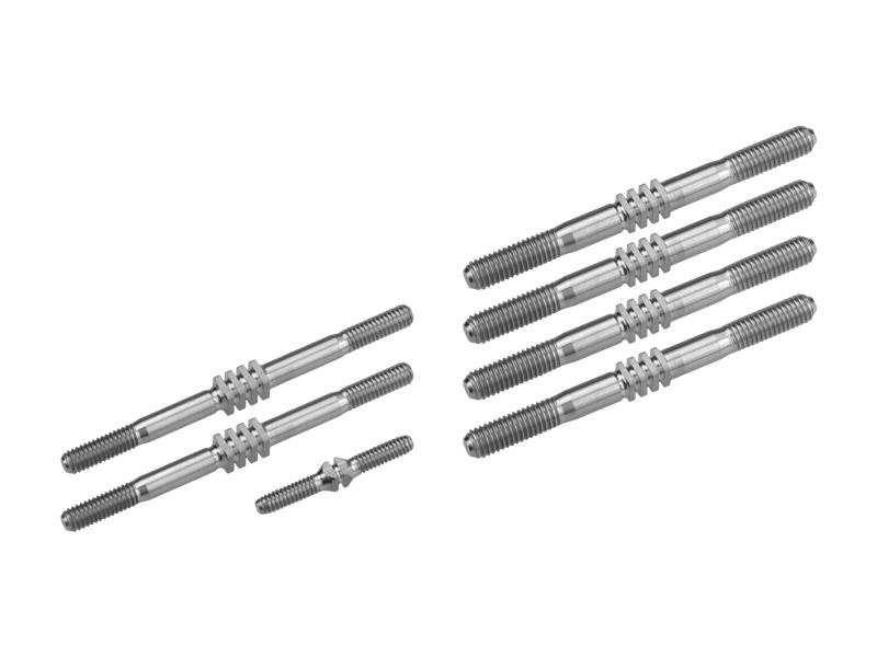 JConcepts - TLR 8ight-E 4.0, Fin Titanium turnbuckle set - 7pc (Fits - TLR 8ight-E 4.0)