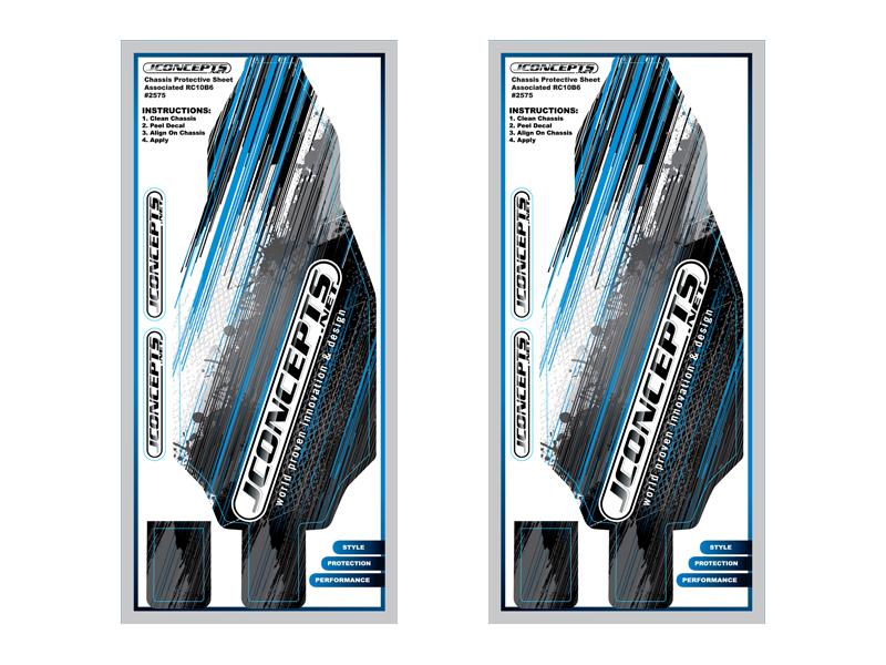 JConcepts - B6 | B6D precut chassis protective sheet - striker graphics (Fits - B6 | B6D)