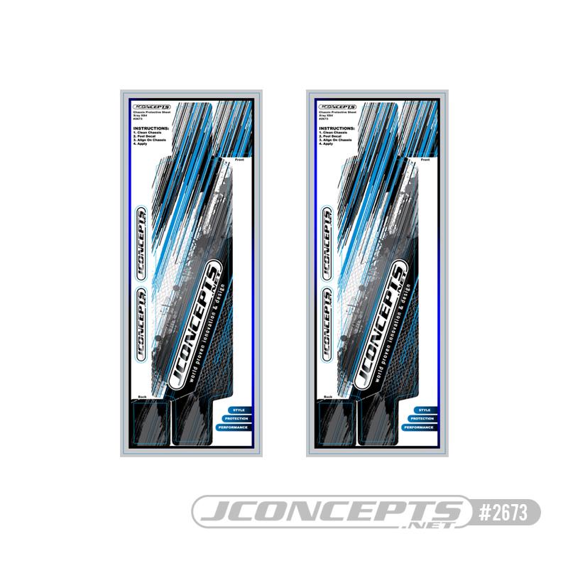 JConcepts - XRAY XB4 precut chassis protective sheet - striker graphics