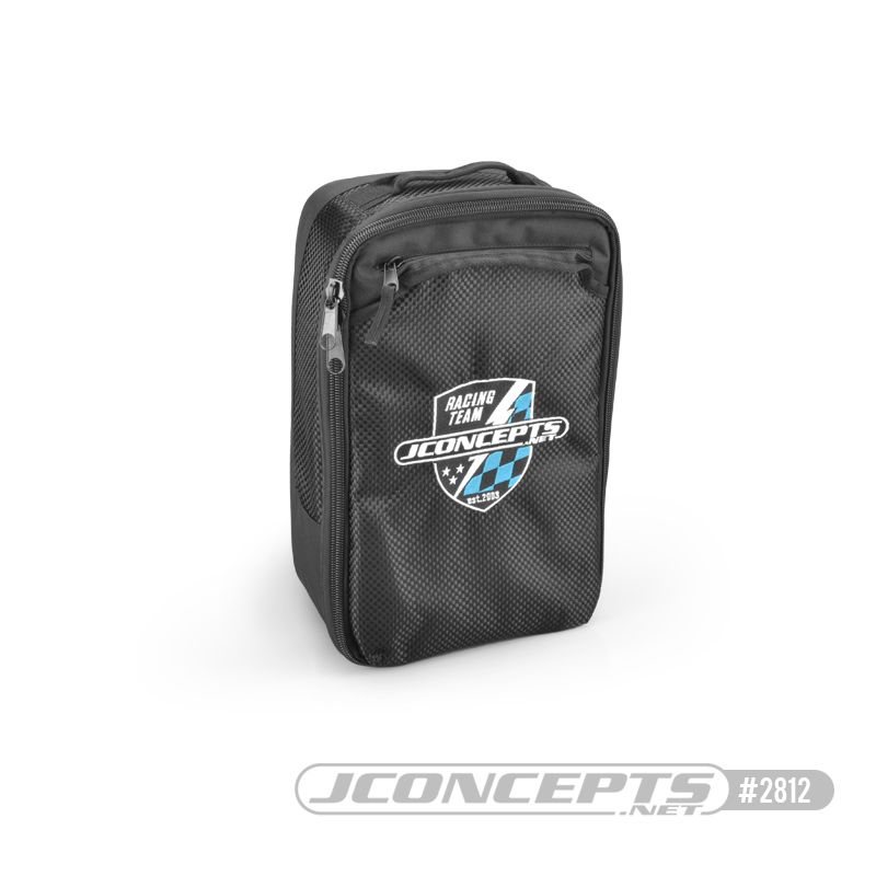 JConcepts Finish Line charger bag w/ inner dividers (Fits - assortment of charger styles, cables and pit accessories)