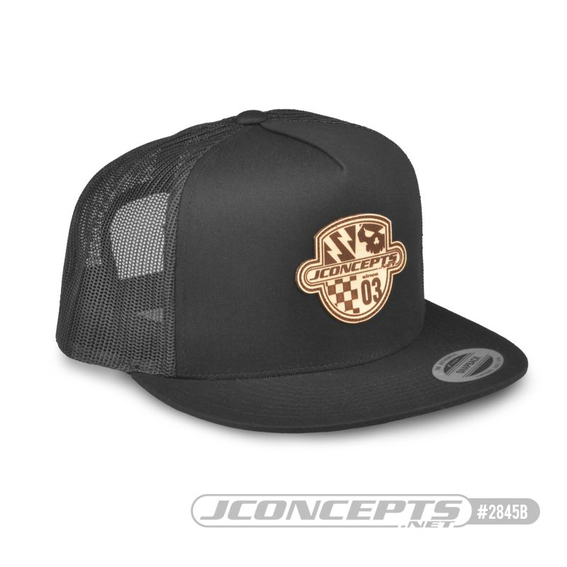 JConcepts Destination hat - flat bill, mesh, black