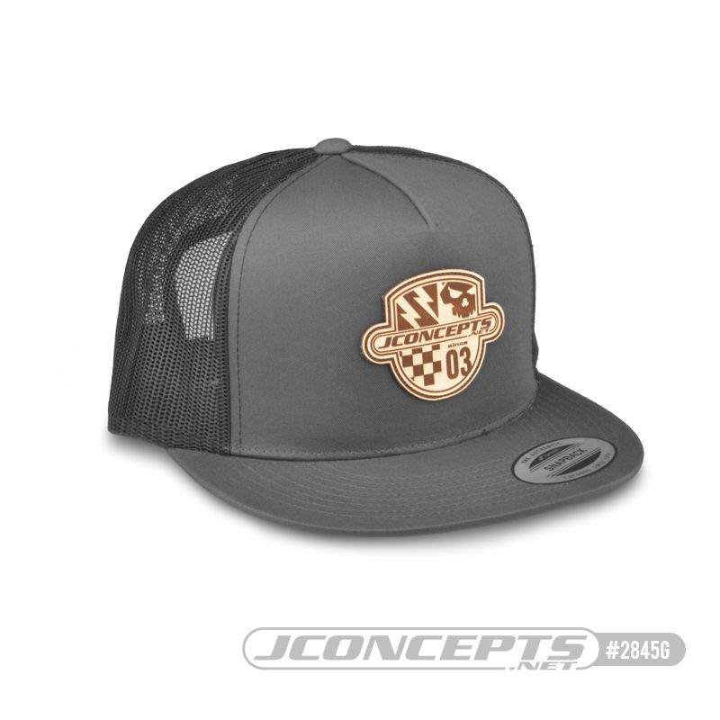 JConcepts Destination hat - flat bill, mesh, gray