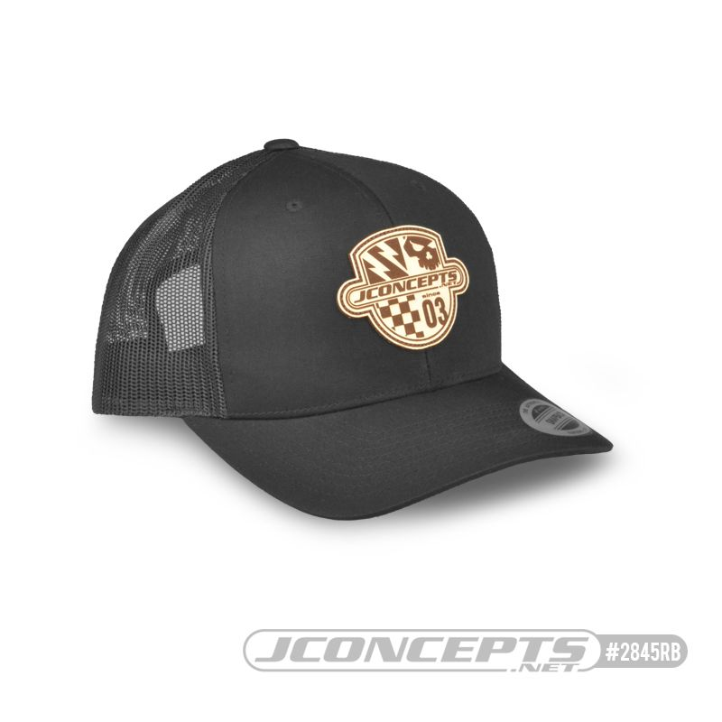 JConcepts Destination hat - round bill, mesh, black