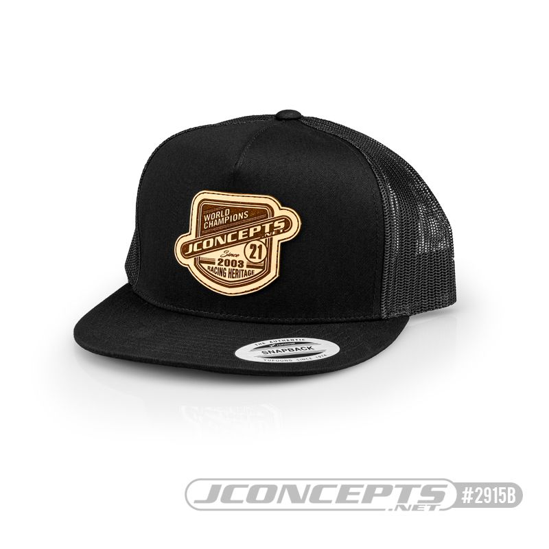 JConcepts Heritage 21 hat - Flat Bill - Black