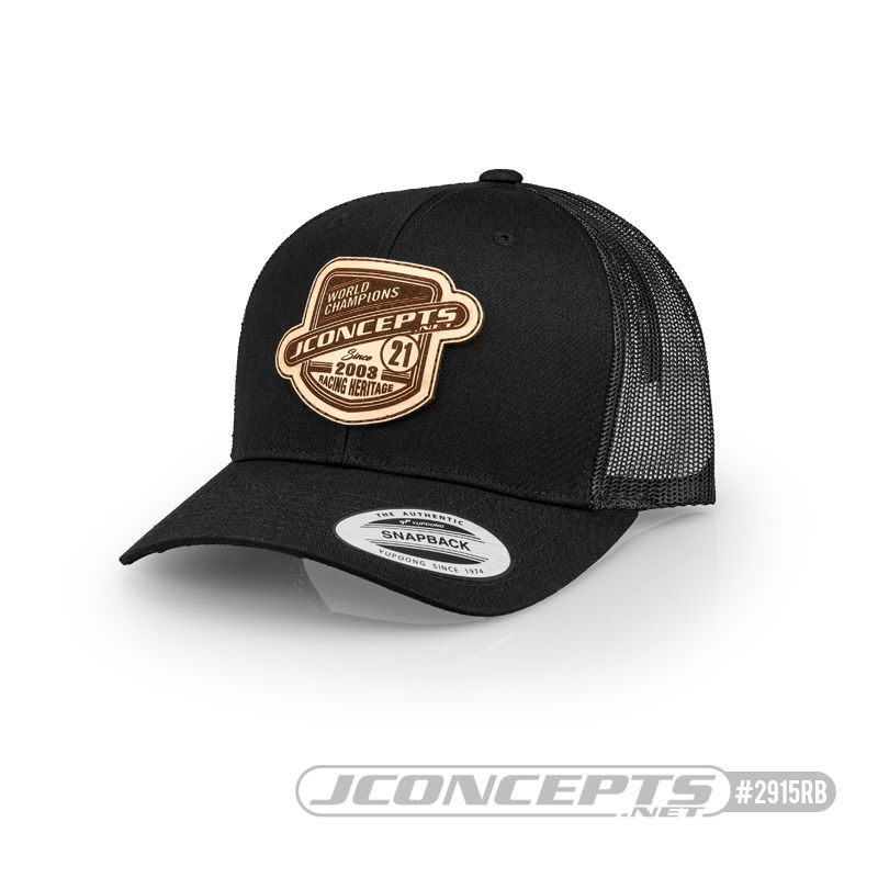 JConcepts Heritage 21 hat - round bill - Black