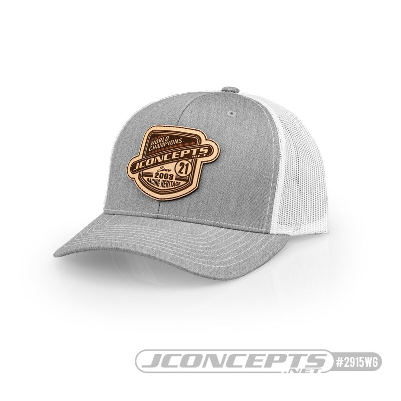 JConcepts JConcepts - Heritage 21 hat - round bill - White/Gray