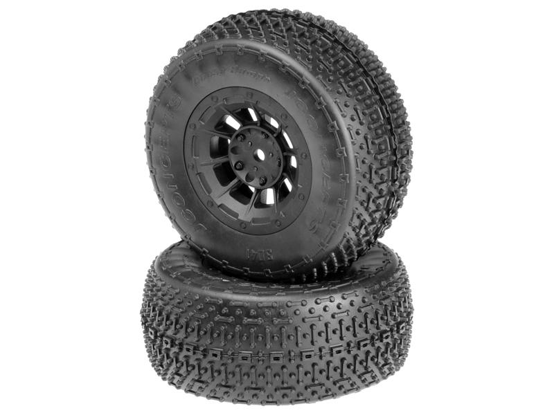 JConcepts Goose Bumps - green compound - black Hazard 12mm wheel - (SC10 RS, 4x4 pre-mounted)