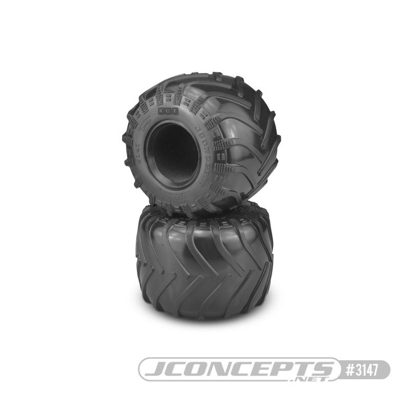 JConcepts Tire - Monster Truck tire - blue compound (Fits - #3377 2.6 x 3.6