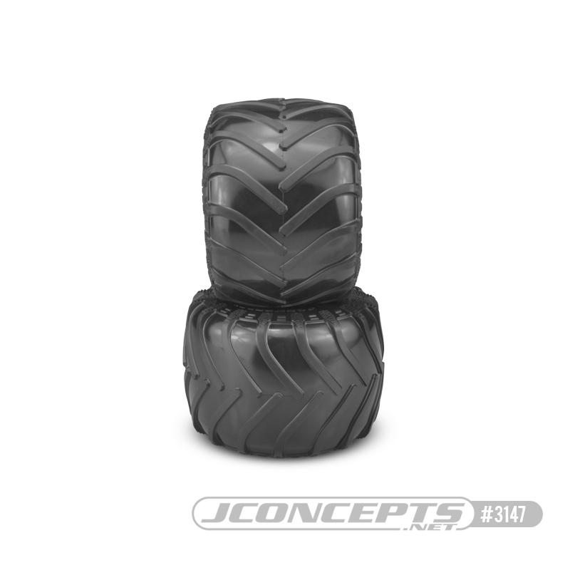 JConcepts Tire - Monster Truck tire - gold compound (Fits - #3377 2.6 x 3.6