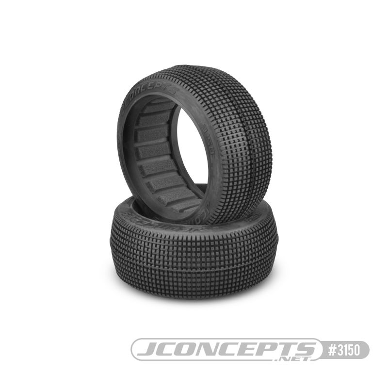 JConcepts Blockers - blue compound (Fits - 83mm 1/8th buggy wheel)