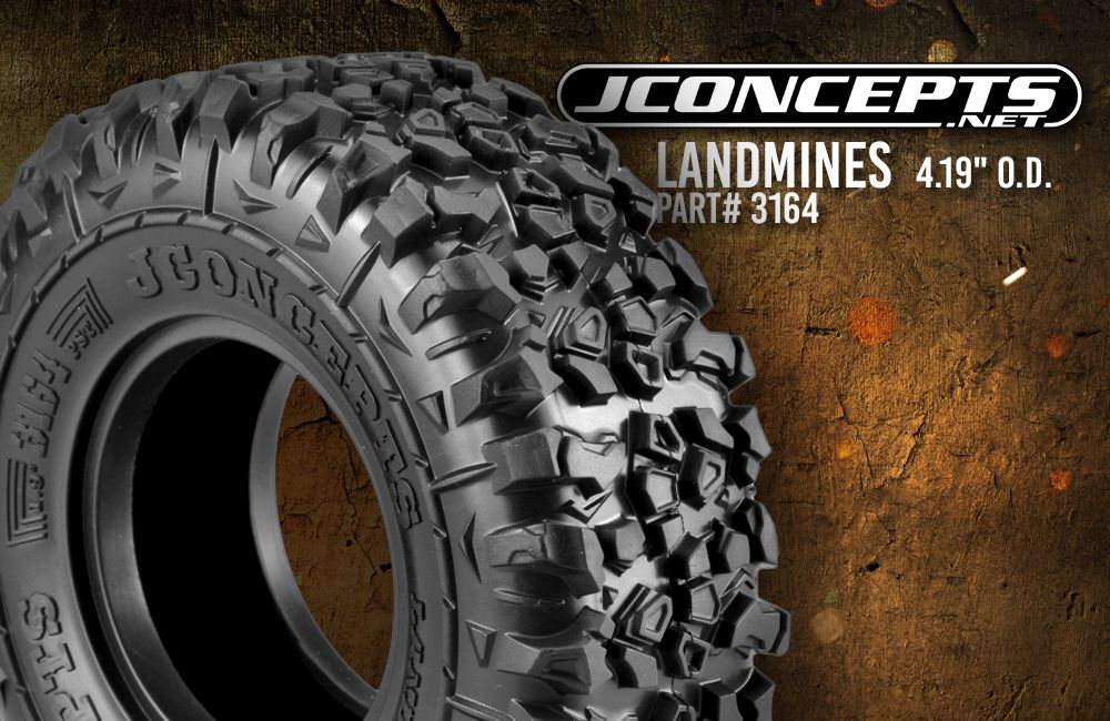 "JConcepts Landmines - green compound, 4.19"" O.D. - Scale Country"