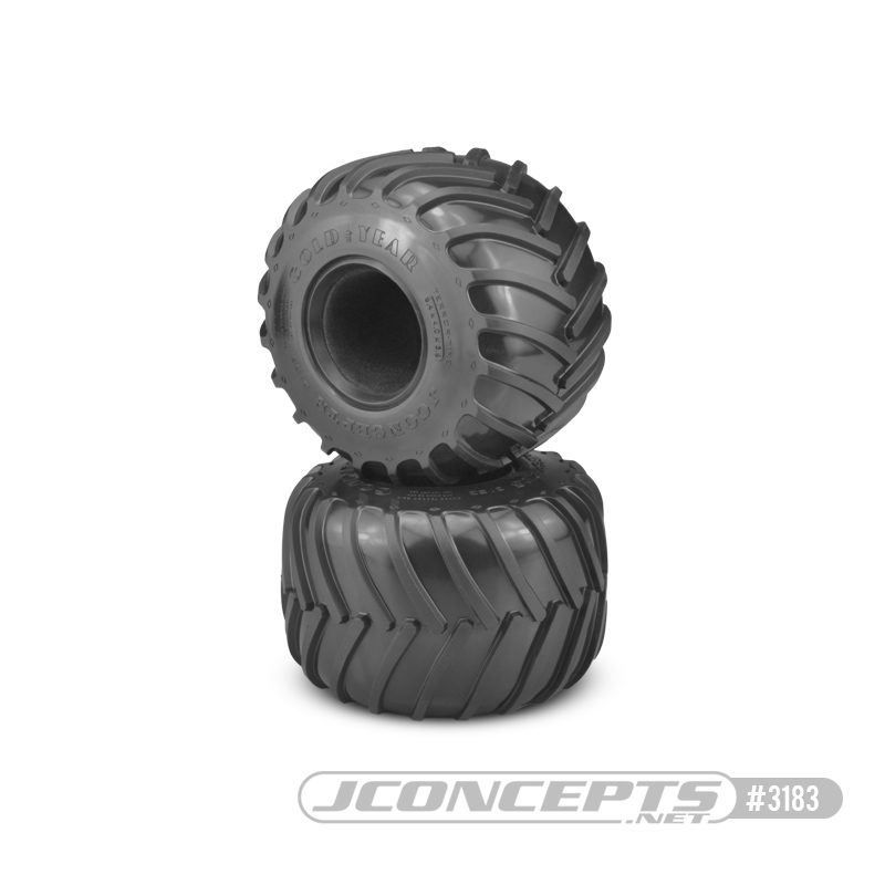 JConcepts Golden Years - Monster Truck tire - blue compound (Fits - #3377 2.6 x 3.6
