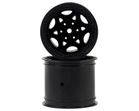 JConcepts Tense - Rustler / Stampede (Electric) front wheel - (black w/ cap) - 2pc.