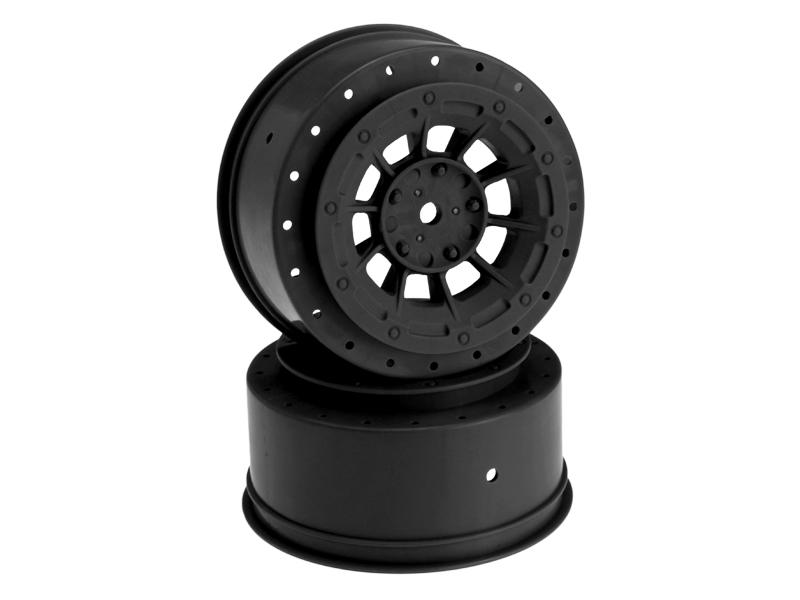 JConcepts Hazard - SC10.2 / SC10 4x4 +3mm wider off-set - 12mm hex wheel - 2pc. - (black)