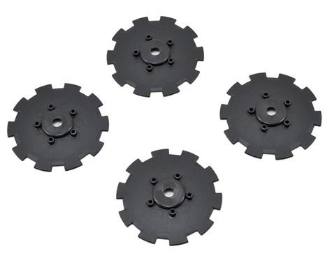 JConcepts Hazard - SC10.2 / SC10 4x4 - wheel dish - 4pc. - (black) - fits 3344 wheel
