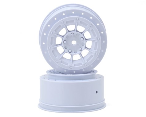 JConcepts Hazard - Losi Ten SCT-E, Ten SCT-Nitro and 22 SCT wheel - white - 2pc.