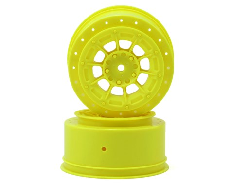 JConcepts Hazard - Losi Ten SCT-E, Ten SCT-Nitro and 22 SCT wheel - yellow - 2pc.