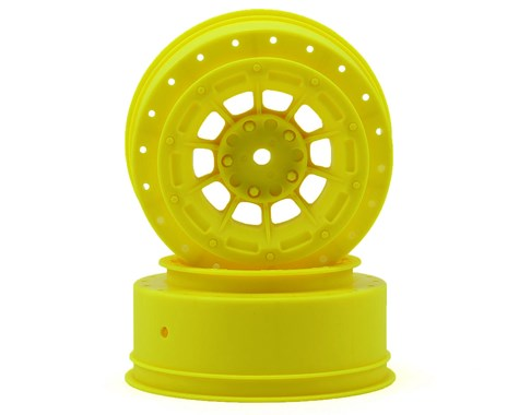JConcepts Hazard - SC10B - 3mm wider off-set - 12mm hex wheel - 2pc. - (yellow)