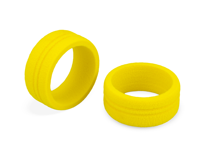 JConcepts Dirt Wheel - foam grip, yellow - 2pc. (Fits - Sanwa, Futaba, KO and Spektrum radios)