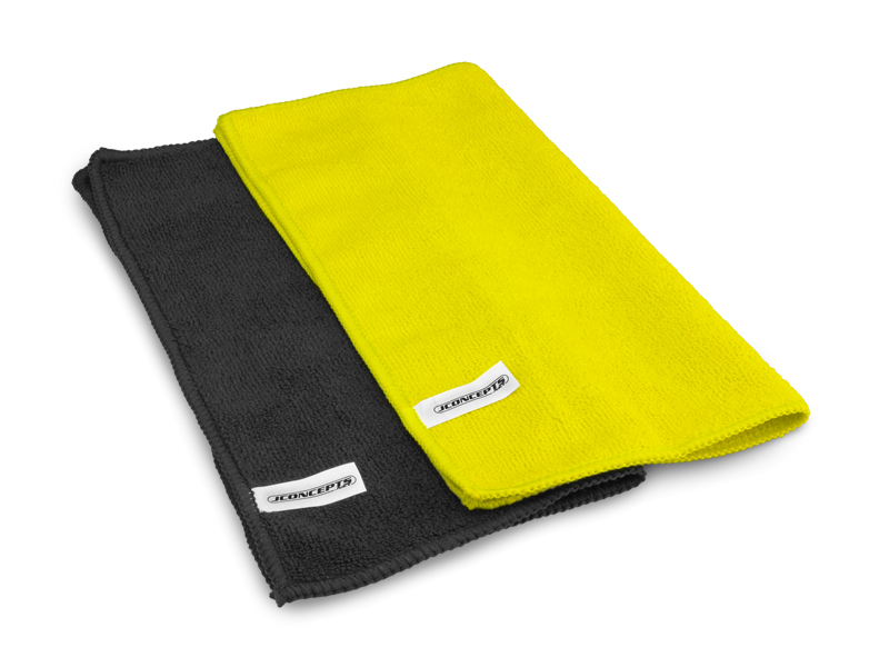 JConcepts Dirt Racing Products - Micro Fiber Towel, Black/Yellow (2)