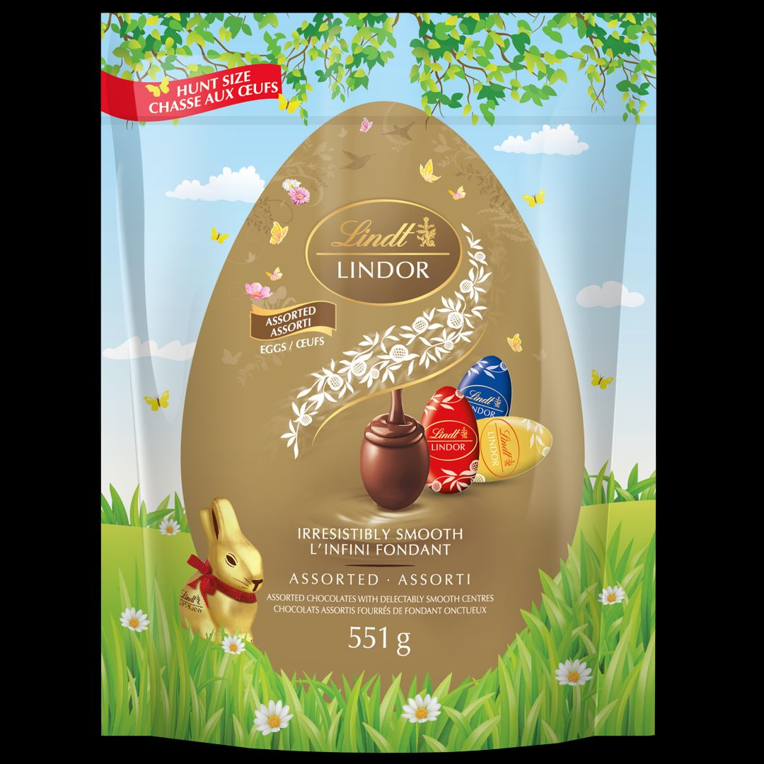Lindt Lindor Assorted Chocolate Egg Bag 551g