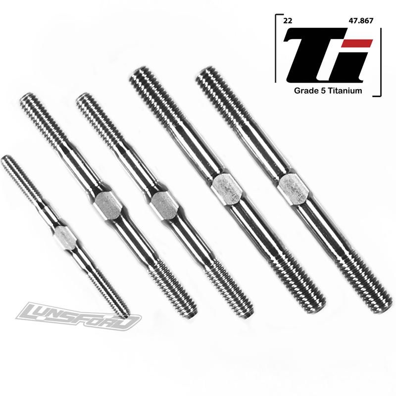 Lunsford 3mm / 4mm / 5mm Titanium Turnbuckle Kit for XRay XB8 20