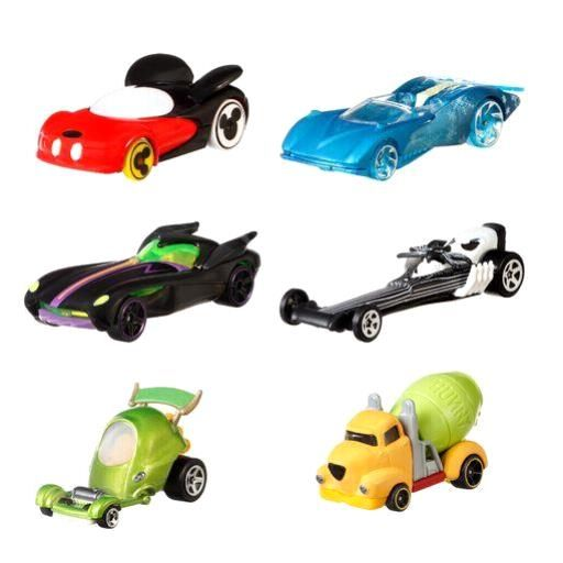 Hot Wheels Entertainment Character Car Assortment (8 Pkg/Box)