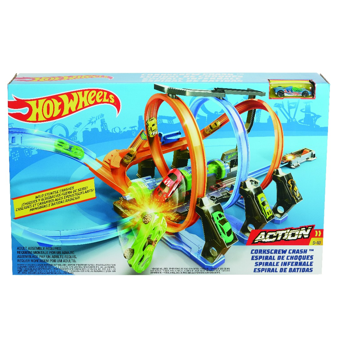 Hot Wheels Corkscrew Crash Track Set (1)