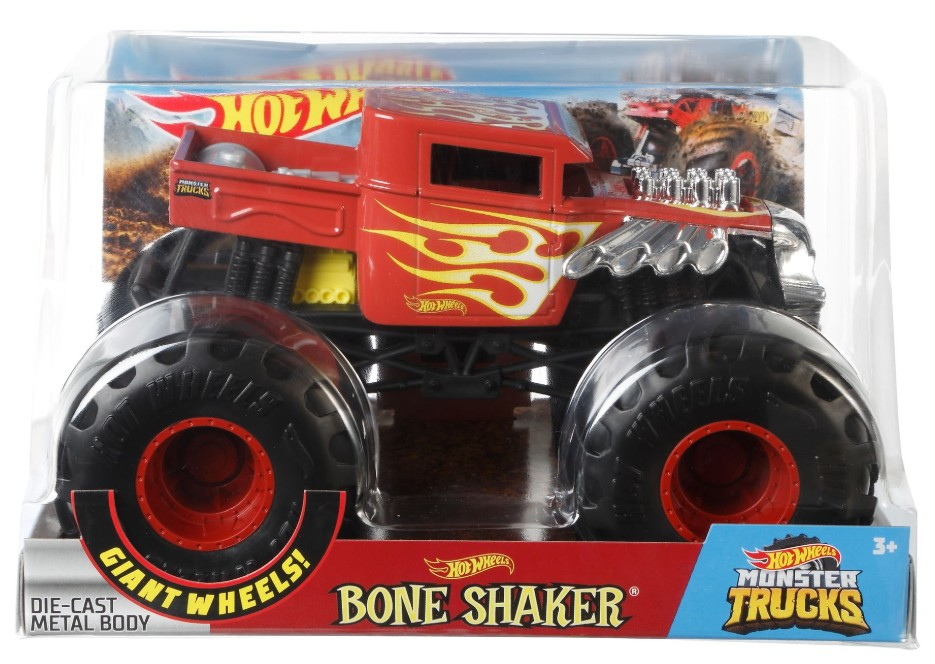 Hot Wheels Monster Trucks 1/24 Assortment (4 Pkg/Box)