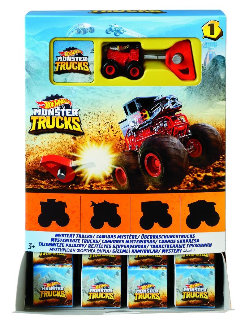 Hot Wheels Monster Trucks Mini Assortment (40 Pkg/Box)