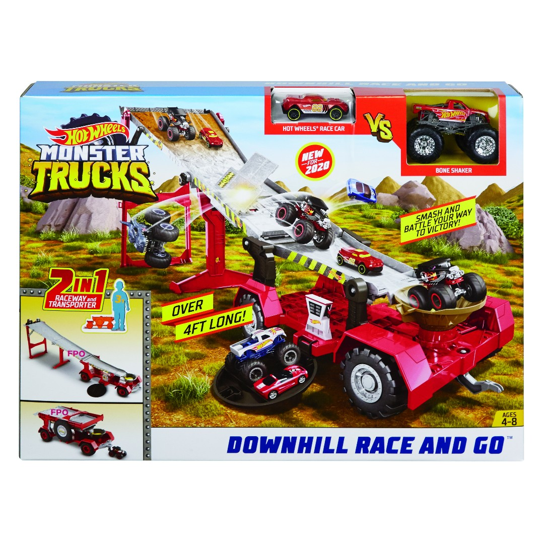 Hot Wheels Monster Truck Mobile Downhill Play Set (1)