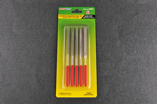 Master Tools Assorted diamond files set (Grit size:150) - 3x140mm