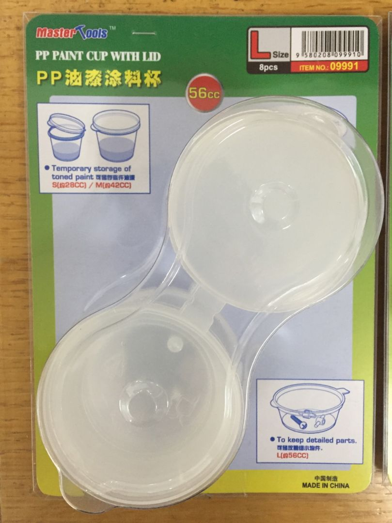 Master Tools PP Paint Cup with Lid - Large - 56cc X 8 pcs