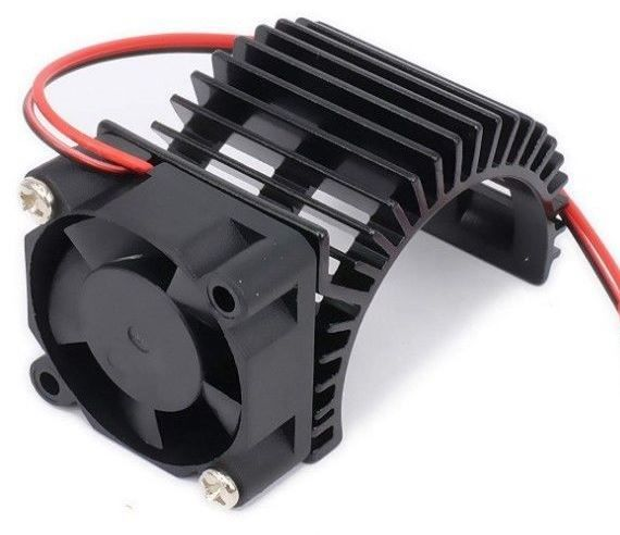 On Point Motor Heat Sink Side Mount Fan - 5V w/ JR Connector Blk