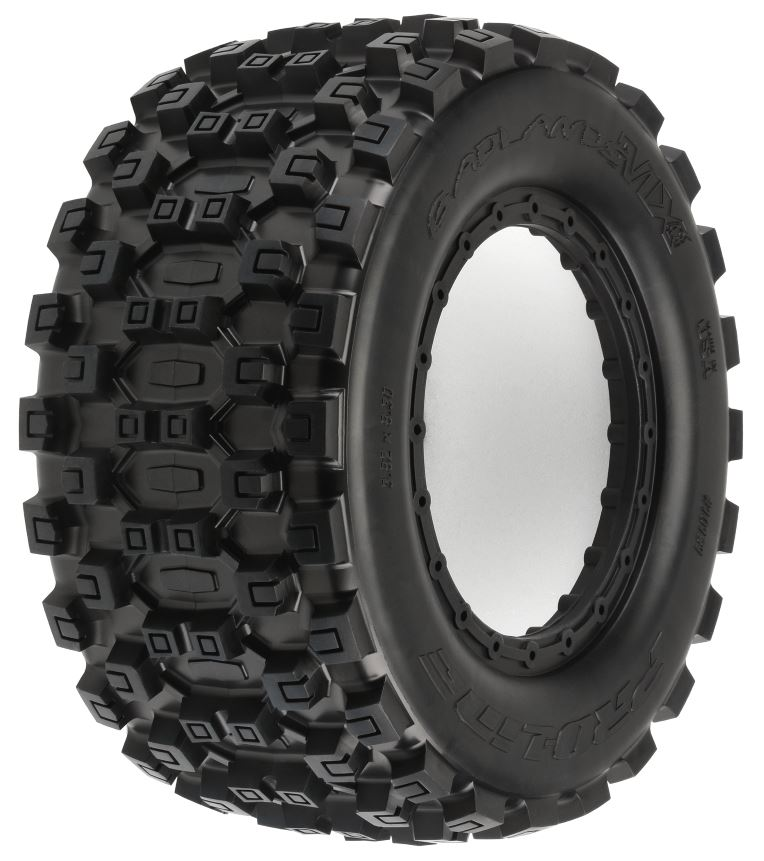 Pro-Line Badlands MX43 Pro-Loc All Terrain Tires (2) for Pro-Loc X-MAXX Wheels Front or Rear