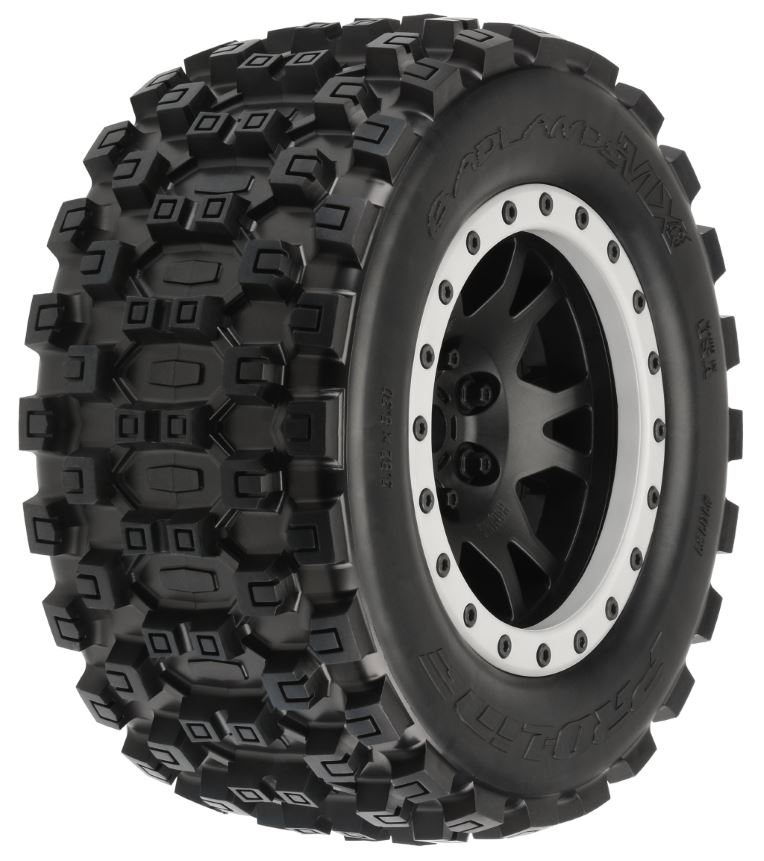 Pro-Line Badlands MX43 X-MAXX MTD Impulse Blk/Gry F/R