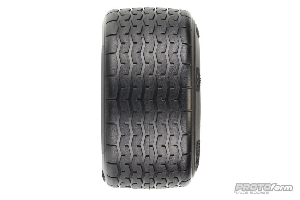 Pro-Line PROTOform VTA Rear Tires (31mm) Mounted on White Wheels (2) for VTA