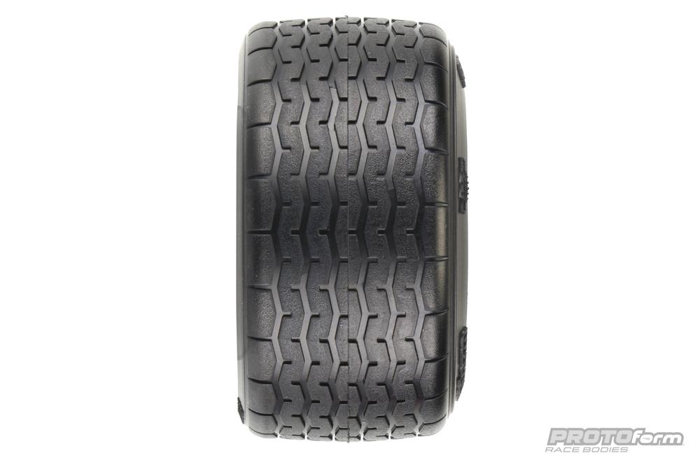 Pro-Line PROTOform VTA Rear Tires (31mm) Mounted on Black Wheels (2) for VTA