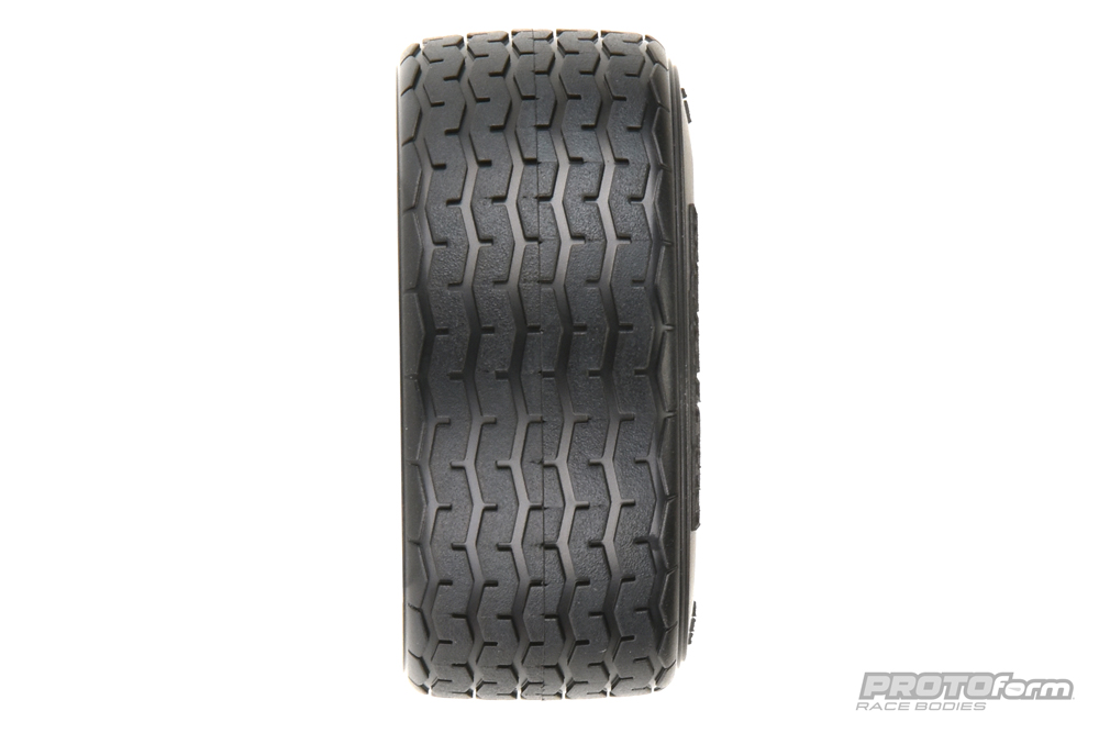 Pro-Line PROTOform VTA Front Tires (26mm) Mounted on White Wheels (2) for VTA
