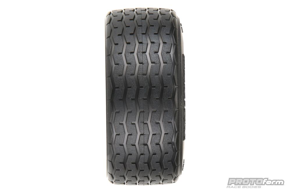 Pro-Line PROTOform VTA Front Tires (26mm) Mounted on Black Wheels (2) for VTA